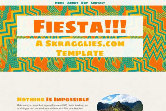 Fiesta!!! Single Page Site
