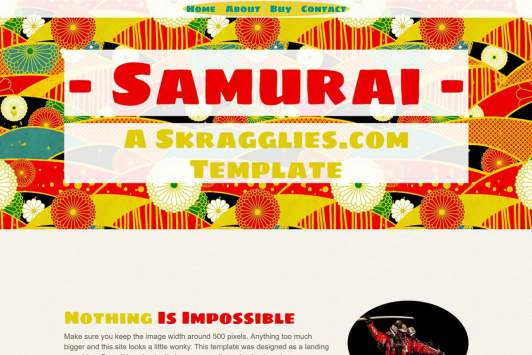 Samurai - Single Page Site